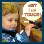 touchable art exhibit, library fun