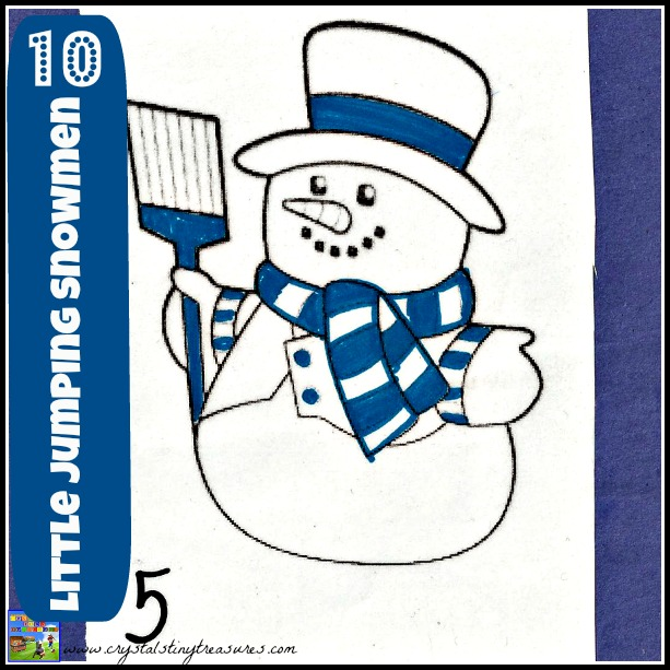 10 Little Snowmen song with Crystal's Tiny Treasures