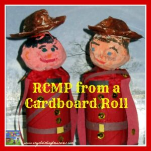 RCMP Craft from a Cardboard Roll