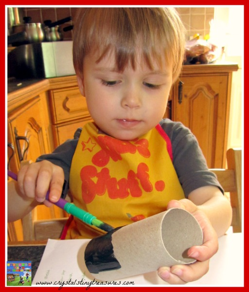toilet paper tube crafts, holiday crafts, Mounties, photo