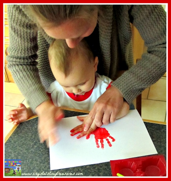 Maple Leaf hand print, Canada Day crafts for kids, hand print art, holiday crafts, photo