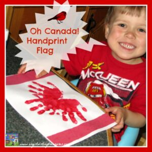 Handprint Canadian flag