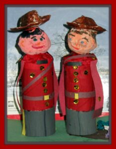 Canada day creaft for kids, Canadian culture crafts for kids, Toilet paper roll crafts, photo