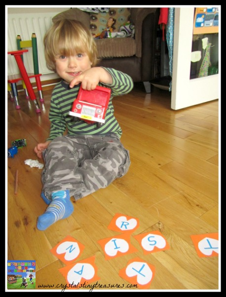 Learning letters with name puzzle, DIY learning puzzles, fun ways to learn your name, photo