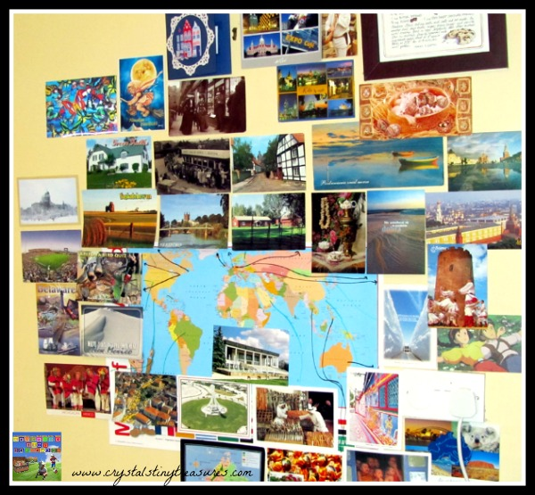 learning about the world, world geography for kids, sending postcards, photo