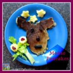 Canada Day breakfast of Moose-shaped pancakes