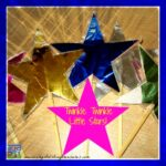 Twinkle Twinkle Little Stars action song with homemade props, toddler colors, fun childcare games, photo