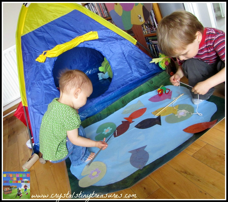 number song, fishing, indoor play, kinetic learning, rhyming, colours, numbers, photo