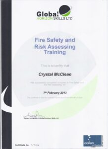 Fire Safety and Risk Assessment Training February 7 2013