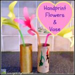 HANDPRINT FLOWERS WITH VASE