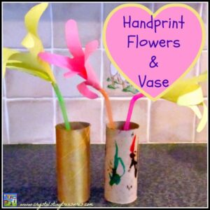 handprint flowers and vase by Crystal's Tiny Treasures, photo