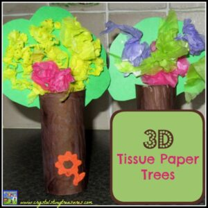 3D Tissue Paper trees by Crystal's Tiny Treasures