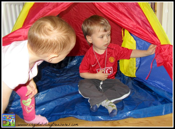 how to build a tent with children, camping indoors, indoor camping fun, camping in the rain, photo
