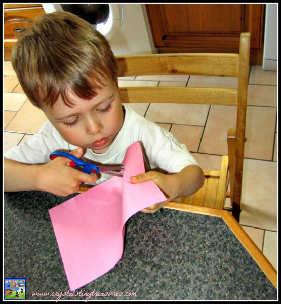 Cutting practice is great for fine motor skills, spring crafts for kids, photo