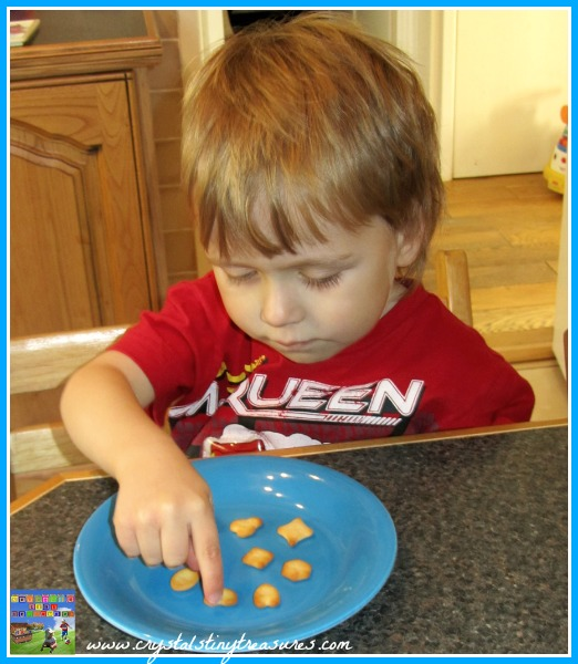 counting fun, learning shapes, Crystal's Tiny Treasures, babysitting fun, daycare snack activities, photo