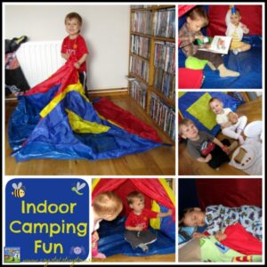 Indoor Camping Fun With Kids by Crystal's Tiny Treasures