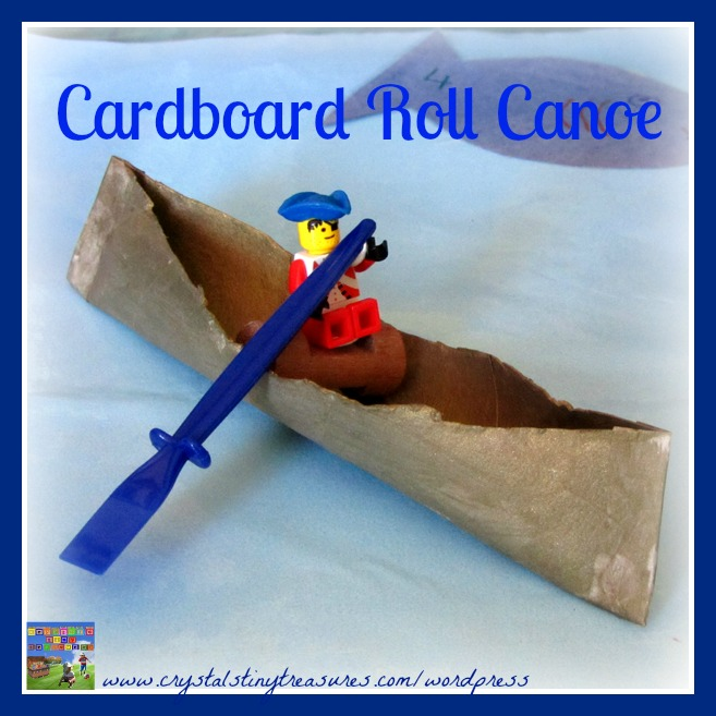 DIY CARDBOARD ROLL CANOE CRAFT FOR KIDS