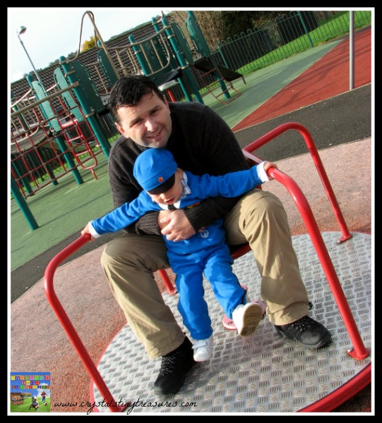 inner ear balancing, playground fun with Dad, learning to balance, boys outside, photo