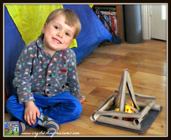camping crafts, camping activities with preschoolers, winter camping, photo