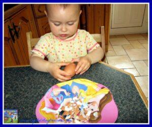 Hard-boiled eggs, deviled eggs, children's snack fun, photo