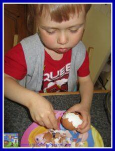 children in the kitchen, fun snacks for kids, picnic snacks, eggs, hard-boiled eggs, photo