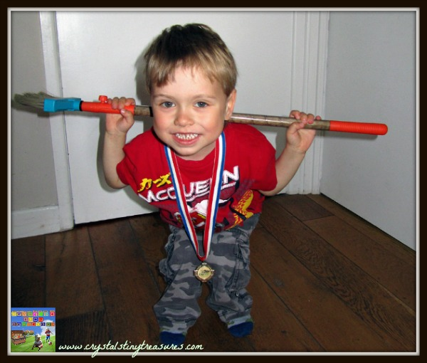 broom weightlifting, children and sport, London Olympics, summer Olympics, photo