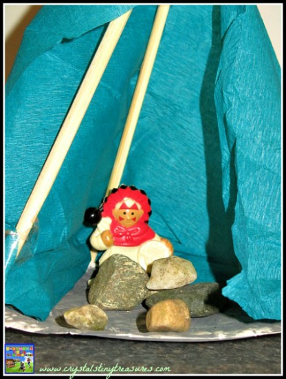 sweat lodge craft, Native American crafts with children, Lincoln Logs, photo