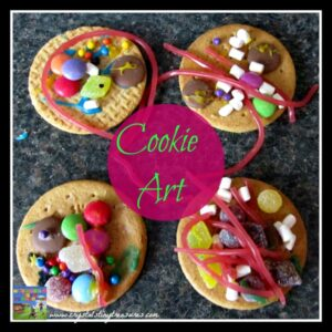 candy and cookies, art cookies, rainy day fun for children, fun food treats for kids, photo