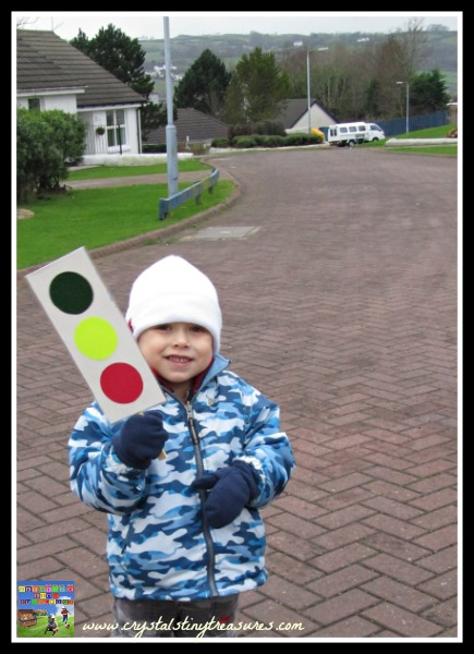 Red, Green, Yellow, traffic signals and children, Crystal's Tiny Treasures Childminding, Whithead, Islandmagee, photo