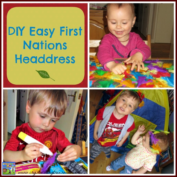 Easy Kids First Nations Indian headdress by Crystal's Tiny Treasures