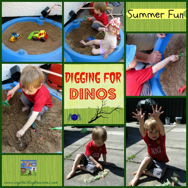 Digging for Dinos, fun summer learning for preschoolers!