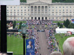 Queen's visit to Northern Ireland, Belfast, Stormont Estate, Stormont party, photo
