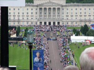 Queen's visit to Northern Ireland, Belfast, Stormont Estate, Stormont party, photo