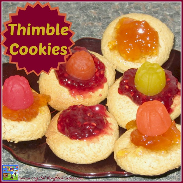 Royal crown thimble cookies by Crystal's Tiny Treasures