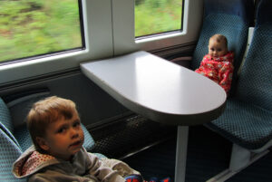 children and train travel, days out in Northern Ireland, Larne Line, photo
