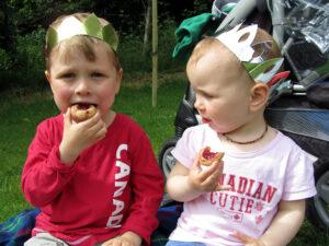 Jubilee party 2012 in Belfast with children, Stormont Estate, photo
