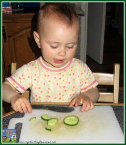 Kitchen skills for children and toddlers, Rice salad recipe, children in the kitchen, photo