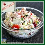 easy rice salad, summer recipes, picnic recipes, make-ahead salads, photo