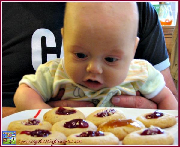 Thimble cookies, royal cookies, Jubilee cookies, recipe, photo