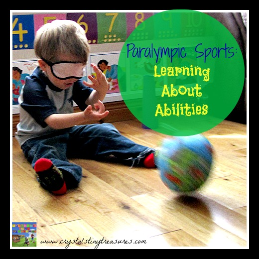 Paralympic goalball fun for children and toddlers