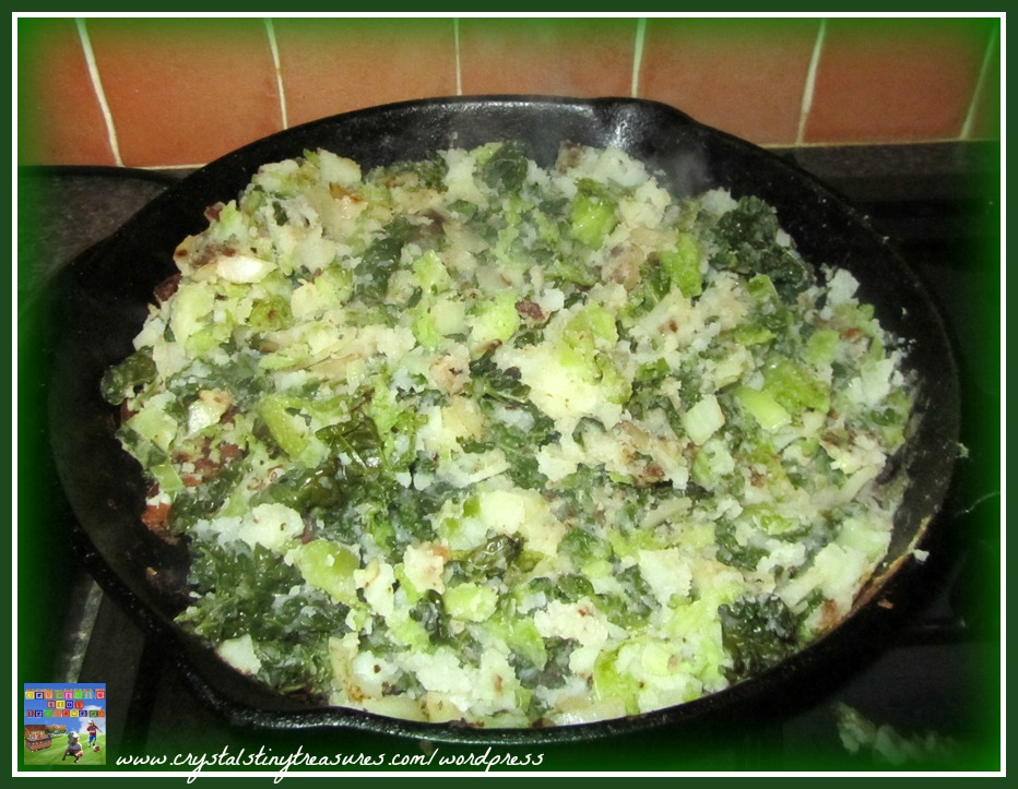 Potatoes, cabbage, Irish food, Irish comfort food, Crystal's Tiny Treasures Childminding in Whitehad and Islandmagee, photo