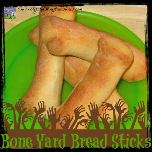 Bone yard Breadsticks for Halloween, a healthy alternative!