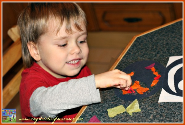 Rainy day fun with Halloween crafts, pumpkin and Jack-O-Lantern crafts for kids, photo