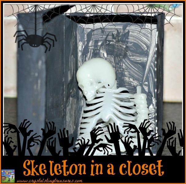 Skeleton in a closet craft for klds
