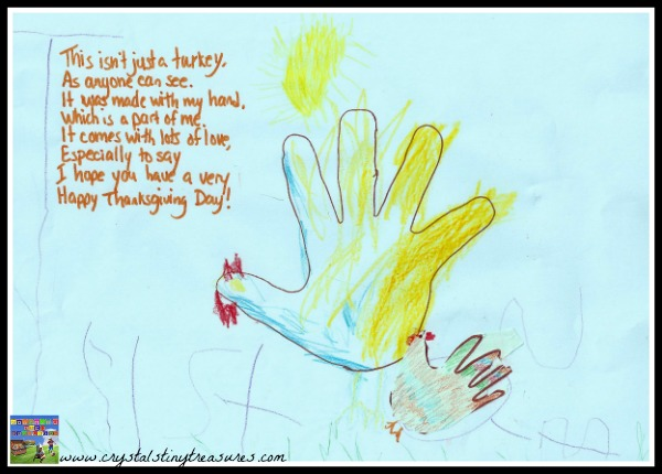 Turkey hand print and verse