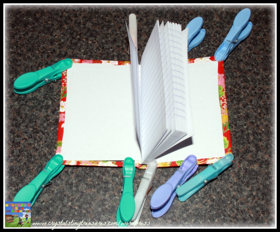 Clothes peg uses, homemade journal, covered notebooks, gifts for all occassions, photo