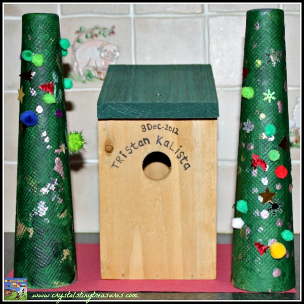 Cardboard cone Christmas Trees by Crystal's Tiny Treasures