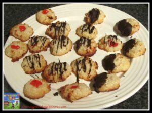 cherry macaroons, chocolate macaroons, macaroon cookie recipe, photo