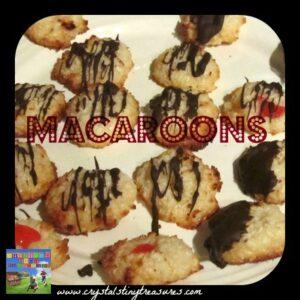 Macaroons, Christmas cookies, coconut cookies, easy drop cookies, Crystal's Tiny Treasures, photo