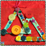 Popsicle stick tree with buttons for kids by Crystal's Tiny Treasures